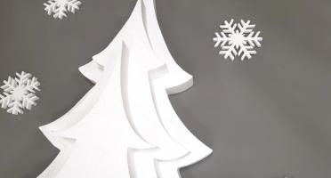 Новогодний декор елка из пенопласта