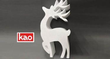 Новогодний декор из пенопласта - фигура олень