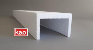Защитный П-профиль из пенопласта для упаковки мебели и дверей