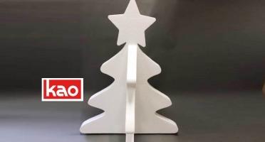 Новогодний декор из пенопласта - елка