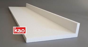 Защитный Г-профиль из пенопласта для упаковки мебели