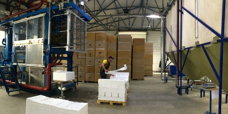 Производство пенопласта на заводах КАО в Краснодарском крае